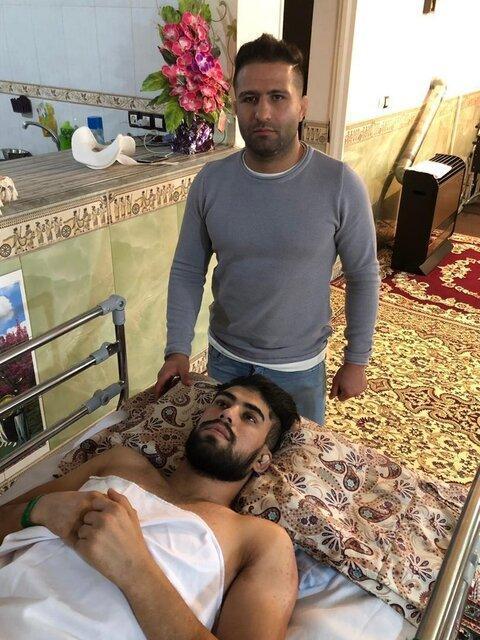 میثم زارع برای ادامه درمان به تهران اعزام شد