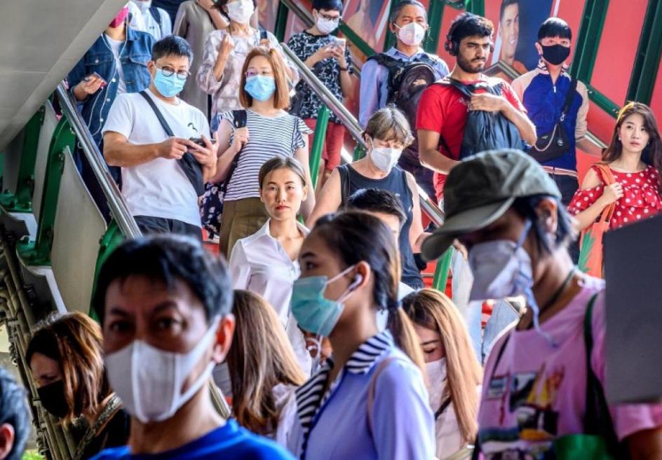 تذکر رعایت بهداشت با پهباد در چین