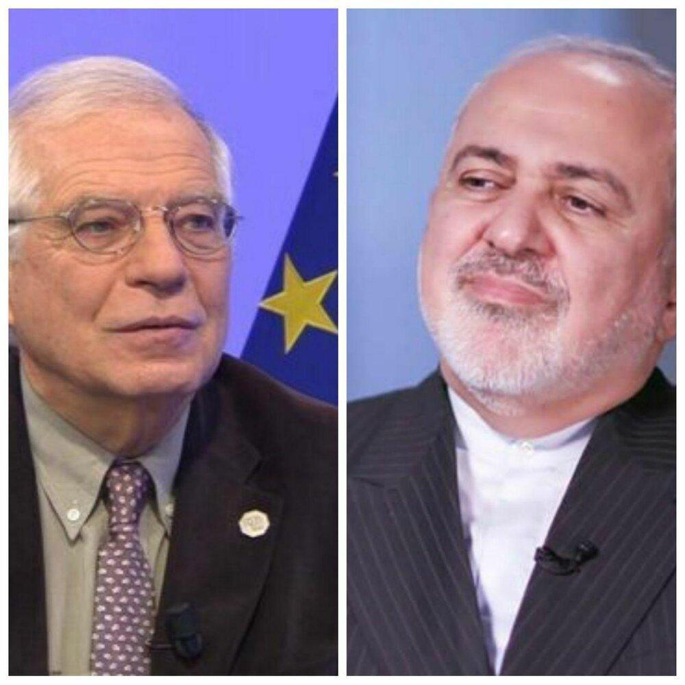 بورل در تماس با ظریف از تحریم های آمریکا علیه ایران انتقاد کرد