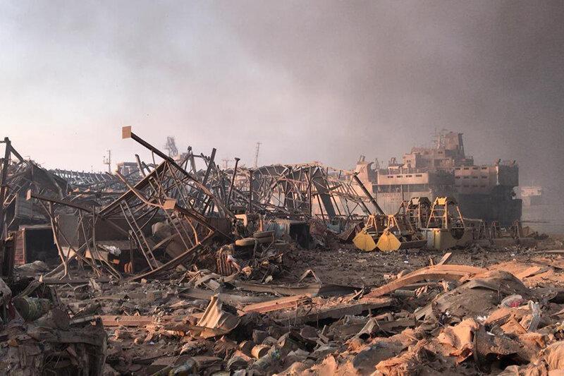 تصاویر باورنکردنی و شوکه کننده از انفجار بیروت