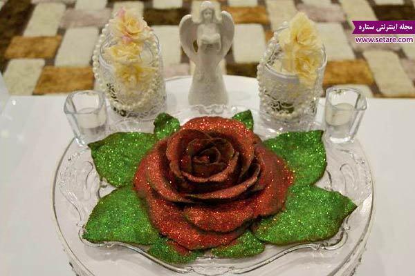 آموزش تزیین حنا به شکل گل رز برای مراسم حنابندان