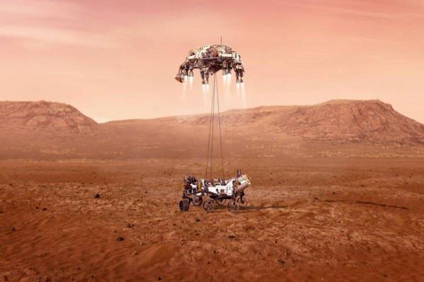 کاوشگر استقامت در آستانه فرود بر سطح مریخ