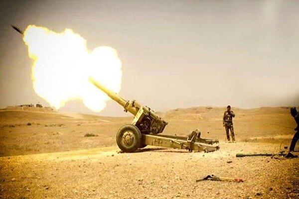 هدف قرار دادن مخفیگاه های داعش در دیالی توسط حشدشعبی