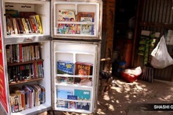 کتابخانه یخچالی، ابتکار معلم هندی برای تشویق به مطالعه