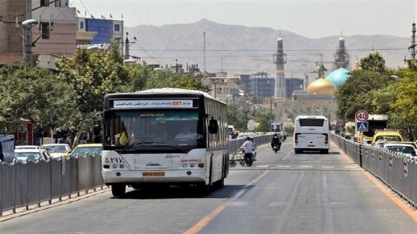 ساعت فعالیت ناوگان اتوبوسرانی در مشهد تغییر می نماید